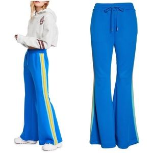 Free People Pants & Jumpsuits - •FREE PEOPLE• She's a Rainbow Flare Track Pants